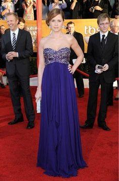 Jenna Fischer Purple Gown