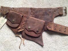LEATHER UTILITY belt, pocket belt, fanny pack, bumbag, STEAMPUNK belt, festival belt, lebecs