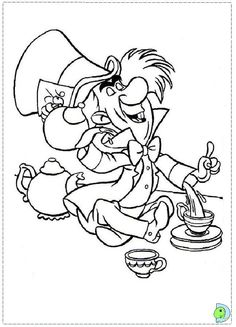 e in wonderland Colouring Pages