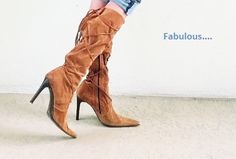 O2 Fabolous Suede Boots Made In Italy by loveusati on Etsy, $75.00