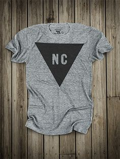 Triangle // North Carolina shirt made in USA