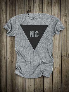 Triangle // North Carolina shirt made in USA