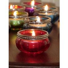 Red Glass Tealight Holder €1.95 www.dressmyhome.ie