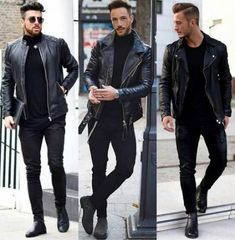 Entdecken Sie die Details, die den Unterschied zum besten Street Style machen, e. Discover the details that make the difference to the best street style, unique people with a lot of style Men Street Look, Best Street Style, Biker Jacket Outfit, Leather Jacket Outfits, Man Outfit, Mode Masculine, Moda Indie, Moda Men, Men Casual