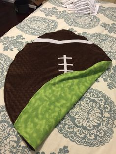 Football Minky baby blanket
