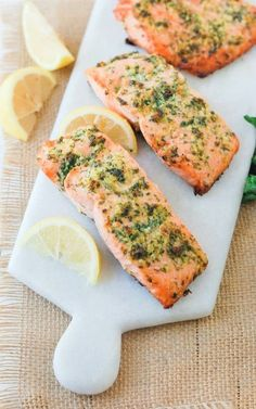 Low FODMAP and Gluten Free Recipes - Salmon baked with herbs & lemons --- http://www.ibssano.com/low_fodmap_recipe_salmon_baked_herbs_lemon.html
