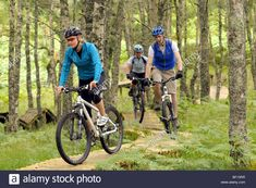 Friends Cycling On A Purpose Built Cross Country Mountain Bike Course Stock Photo, Royalty Free Image: 26452827 - Alamy