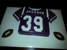 Morris Brown college football jersey cake