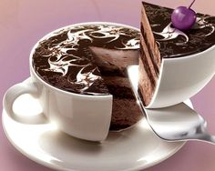 ☕ #Coffee #cup shaped #cake ☕