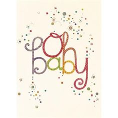 Oh Baby Congratulations Card by Graphique de France a stationery, desk accessory, home decor, and gift online retailer. #babyshower $3.50