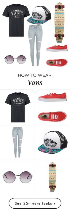 """Vans skate"" by ava-smith-2 on Polyvore featuring Vans and Monki"