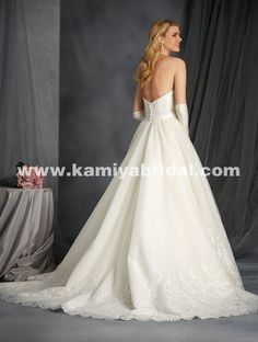 Only - $342.00 Alfred Angelo 2566 Lace And Satin online bridal gown…