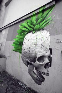 Green Street Art Graffiti by Ludo 3d Street Art, Urban Street Art, Murals Street Art, Best Street Art, Amazing Street Art, Street Artists, Urban Art, Awesome Art, Graffiti Art