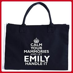 Calm Your Mammories And Let Emily Handle It - Tote Bag - Top handle bags (*Amazon Partner-Link)