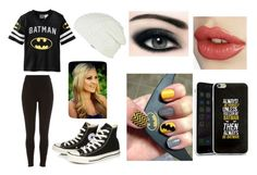 """""""Batman Fangirl"""" by bubbles10272000 ❤ liked on Polyvore featuring River Island, Converse and RVCA"""