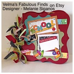 Front cover of School special order book. Sold on Velma's Fabulous Finds on Etsy. Designed by Melanie Siganos.