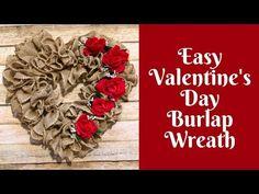 DIY Valentine Day Wreath Ideas – Learn How To Make Wreaths To Make Your Front Door Look Amazing – Dollar Store Hacks – Homemade Valentine Decor Love is in the air! Diy Valentines Day Wreath, Homemade Valentines, Valentines Day Decorations, Valentine Day Crafts, Burlap Wreath Tutorial, Diy Wreath, Wreath Ideas, Burlap Wreaths, Burlap Crafts