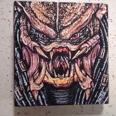 Predator Hand Painted Cigar Box