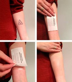 Make it vanish: tattoo removal card.   21 Ingenious Business Card Designs