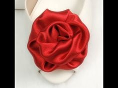 Fabric Flowers Roses, Tutorial, DIY, Variant #2 - YouTube-satin rolled roses-perfect for a bouquet