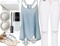 Blue & white - Freizeitoutfit - stylefruits.de