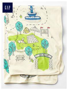Central Park Picnic stroller blanket