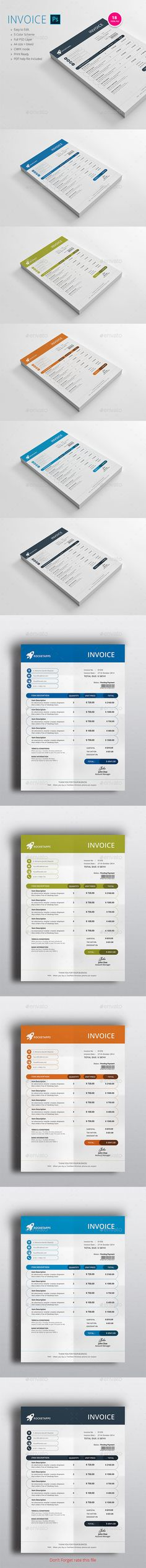 Invoice Design Template, Quotation format and Graphic resume - use of an invoice