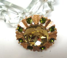Vintage Brooch Pendant By Avon Circle of Hearts Huge by BagsnBling, $9.50