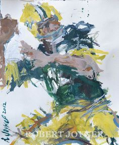 NFL Football Painting Featuring Green Bay by RobertJoynerFineArt, $295.00
