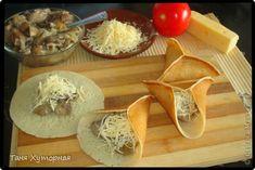 Кулинария Рецепт кулинарный Блинчики с грибами и сыром Продукты пищевые фото 5