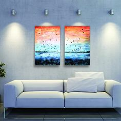 """""""In Flight"""" Acrylic on Canvas Wall Nails, Wood Bars, Beautiful Moments, Abstract Landscape, Solid Wood, Love Seat, Hand Painted, Colours, In This Moment"""