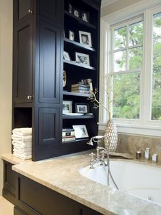 The bathroom design experts at HGTV.com share 15 tips for clearing clutter and maximizing storage space in any size bathroom.