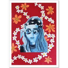 art prints available on Artzillu or Society 6 Boho Girl, Girls 4, 4th Of July, Disney Characters, Fictional Characters, Art Prints, Disney Princess, Painting, Art Impressions