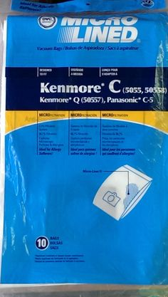 Vacuum Cleaner Bags 20618: 100 Vacuum Bags Fits Kenmore C 5055And50558, Kenmore Q- Also Panasonic C-5 -> BUY IT NOW ONLY: $36.95 on eBay!