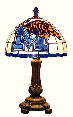University of Memphis Tigers Tiffany Style Stained Glass Table Lamp Stained Glass Table Lamps, Tiffany Table Lamps, Memphis Tigers, Home Gifts, University, Fan Gear, Lightning, Larger, Home Decor