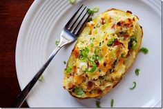 Healthy twice baked sweet potato