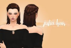 "crazycupcakefr: "" Hello everyone! So I finished this hair :) I really like it! I hope you will too :) •  BASE GAME COMPATIBLE • 18 ea colors • If you use, please tag me I want to see the result! :) • Not hat compatible ♥ ————————-T.O.U————————— ♥ • ..."