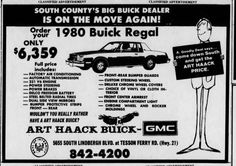 Newspaper Archives, Buick Regal, Down South, Muscle Cars, Classic Cars, Trucks, Ads, Vintage, Vintage Classic Cars