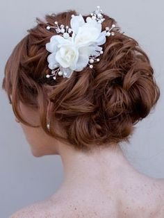 Romantic Hair Flower by Hair Comes the Bride