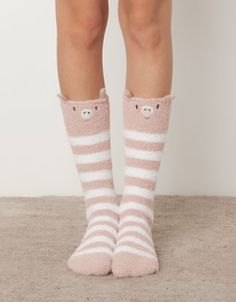 Little pig fleece socks - Socks - Accessories - Spain