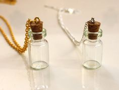 Small Glass Vial Necklace by PenelopeMeatloaf on Etsy, $7.95