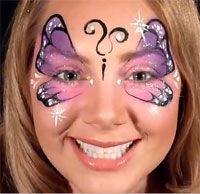 Pink & Purple Butterfly Design VIDEO Tutorial—Face Painting Tips Shop