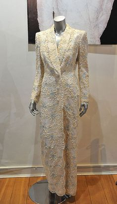 1988 evening gowns | Catherine Walker lace evening gown worn by Princess Diana for a state ...
