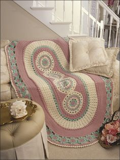 Carousels Afghan by AtticsTreasures on Etsy