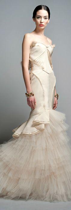 Zac Posen ● Ruffle Evening Gown