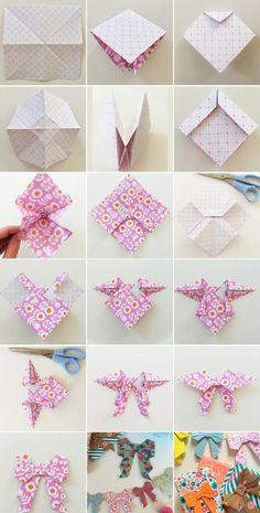 Origami Moños para decoración