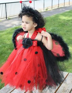 LADY BUG Halter Top Tutu Halloween Costume