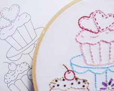 daisy hand embroidery pattern packet daisy by KimberlyOuimet