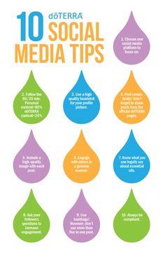 Ten Social Media Tips Convention Handout | doTERRA Business Blog
