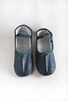Teal Ballet Shoe